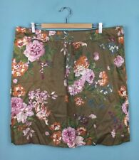 Joules Amaryii Brown Pink Floral Cotton Knee Length Skirt 18 - B50