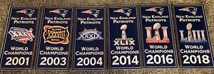 New England Patriots Replica World Champions/Super Bowl Champions Banner set