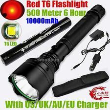 RED LIGHT SMALL SUN 2000 LUMEN CREE XM-L T6 LED HUNTING FLASHLIGHT TORCH LAMP US