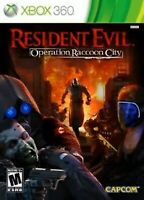 RESIDENT EVIL OPERATION RACCOON CITY Xbox 360 Game Disc Only 17I Zombies
