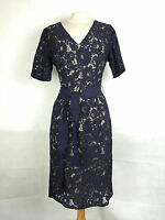 Per Una Ladies Floral Lace Shift Dress in Navy Size 10 12 14 16 18 (245)