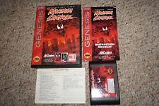 Maximum Carnage BLACK (Sega Genesis) Complete w/ Reg Card GREAT Shape