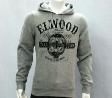 Elwood Mens Original Idols Hoody Fleece Pullover Jumper Grey Size S L XL XXL