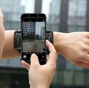 180° Rotating Sports Running Jogging Adjustable Wrist Band Bag Case Phone Holder