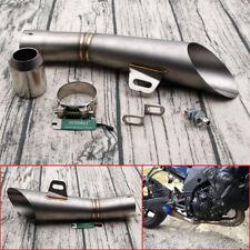 Titanium 35MM-51MM STAINLESS STEEL MOTORCYCLE EXHAUST MUFFLER PIPE RUSTPROOF