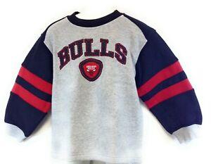 Infant Toddler Chicago Bulls Grey Black Red NBA Basketball Pullover Sweatshirt