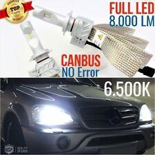 Kit Anabbaglianti H7 FULL LED MERCEDES ML W163 amg lampade LUCI 6500K CANBUS