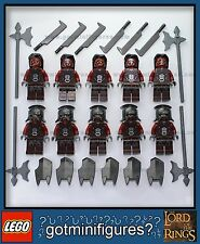 LEGO® URUK HAI ARMY 10 minifigure 9471 lot shields helmets NEW lord of the rings