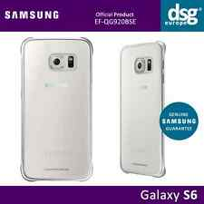 Samsung GENUINE Clear BACK Case Cover SILVER for Galaxy S6 EF-QG920BSE