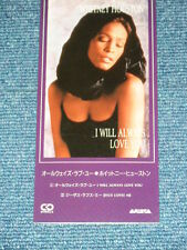 "WHITNEY HOUSTON Japan Only 1992 NM Tall 3"" inch CD Single I WILL AWAYS LOVE YOU"