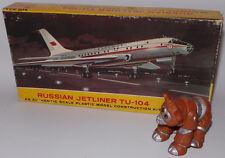 AVIATION : RUSSIAN JETLINER TU-104 PLASTIC MODEL KIT BY LINDBERG. REF: 413