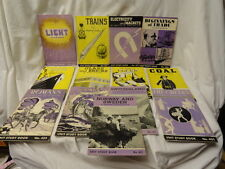 Unit Study Books on Light Coal Trains Glass Bricks 13 Vintage Paperbacks