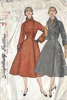 """1952 Vintage Sewing Pattern COAT B33"""" (R313)"""