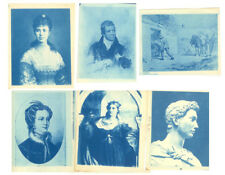 FAMOUS PEOPLE & PAINTINGS CYANOTYPES SET OF 6