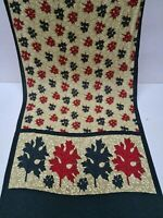 Vintage Exotic Traditional Saree Crepe Silk Flower Florel Print Fabric Sari 5yd