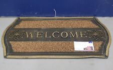 GOLD AND SILVER CLASSIC STYLE PVC PIN MAT WELCOME DOORMAT INDOOR OR OUTDOOR