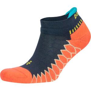 Balega Silver No Show Running Socks - Neon Coral/Ink