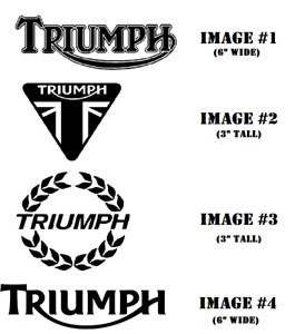 TRIUMPH Motorcycle Vinyl Decal Die Cut Sticker Many Colors