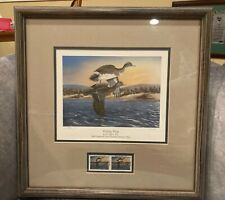 "1990 Ducks Unlimited ""Whistling Wings�. J Bryon Test, Oklahoma Sponsor Framed"