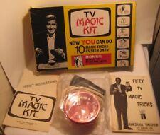 Old 1960s Tv Magic Kit in Box w/ Magician Props + Bonus Book of Tricks M Brodien