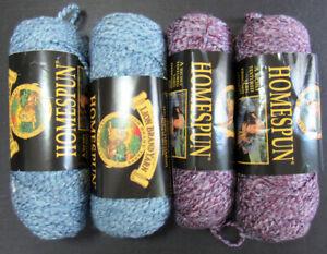 4x Knitting/Crochet YARN LION BRAND Homespun Bulky acrylic/polyester-GA8