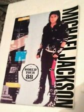 More details for michael jackson bad vintage 1980s concert programme - world tour 88 variant
