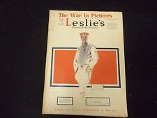 1918 NOVEMBER 9 LESLIE'S WEEKLY MAGAZINE - GREAT COVER, PHOTOS & ADS - ST 2222