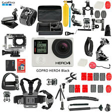 GoPro Hero 4 Black Edition Action Camera Camcorder + 50Pcs Extreme Accessories