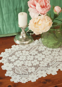 """Heritage Lace Ecru DOGWOOD Placemat 14""""x 19"""" - Made in USA!"""