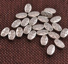 20/100pcs Tibetan silver oval flowers Charm Spacer beads  C3101