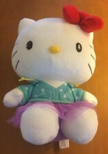 """Hello Kitty With Blue Shirt and Purple Tutu 9"""""""