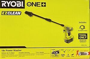 Ryobi EZClean Power Washer One+ 18V - Skin Only 3-in-1 nozzle Model OWA1800