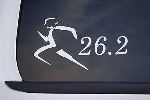 26.2 Mens Running Marathon Sticker Vinyl Decal CHOOSE COLOR! Car Window (V544)
