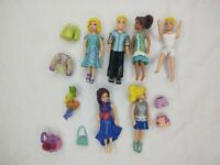 Polly Pocket LOT 6 dolls Rubber clothes sand accessories
