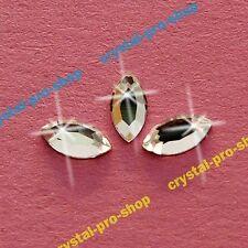 Genuine Swarovski 2200 Navette ( No Hotfix ) Flat back Crystal Rhinestones Olive