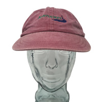 Zkapz Nantucket Island Baseball Cap MA Embroidered Red OSFM Strap Back Hat