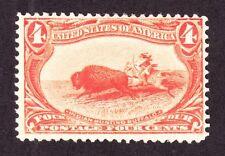 Us 287 4c Trans-Mississippi Mint F-Vf Og H Scv $110 (007)