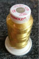METY METALLIC - GOLD 1000m # 40 Machine Embroidery Thread XMAS Christmas