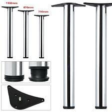 2/4Pc Set Chrome Adjustable Breakfast Bar Table Legs Desk Kitchen 710 870 1100mm