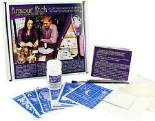 Armour Etch Deluxe Glass Etching Starter Kit Includes 85 Stencils, Brush & Cream