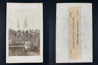 Allemagne, Wiesbaden, Eglise Saint-Boniface Vintage cdv albumen print, CDV, ti