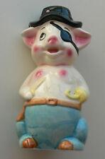 Cochon tire-lire en céramique - Pour la fête des mères et des pères.
