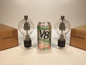 2 Vintage NOS 1945 RCA JAN CRC 808 Amplifier Transmitting Spherical Tube Pair #2
