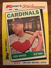 1982 Kmart 1964 Ken Boyer St Louis Cardinals 6