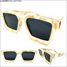 Clásico Elegante Retro Diseño Lujo Moda Gafas de Sol Mármol Marco Oscuro Lente