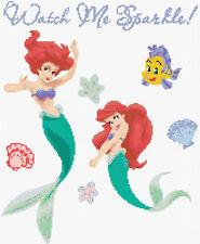Ariel la sirena 1 puntada cruzada contada Kit de TV/cine personajes de dibujos animados de Disney