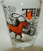 Vintage Tennessee Horse Bear Souvenir Shot Glass