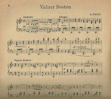 I Milioni di Arlecchino Valzer Boston di Riccardo Drigo Spartito per Pianoforte