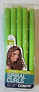 NEW Conair Spiral Curls 10 Pack Flexible Rollers