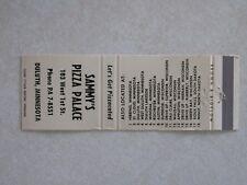 i332 Vintage Matchbook Cover Sammys Pizza Palace Duluth Minnesota MN